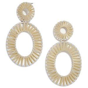 NEW BAUBLEBAR Kiera Raffia Lrg Statement Earrings